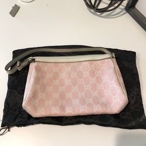 *AUTH* Gucci bubble gum pink small shoulder bag